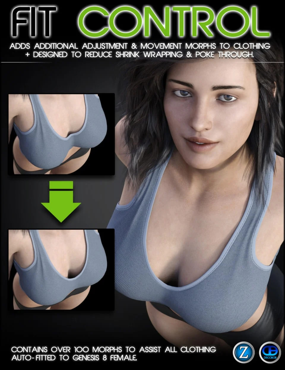Fit Control for Genesis 8 Female(s) (v1.2)_DAZ3D下载站