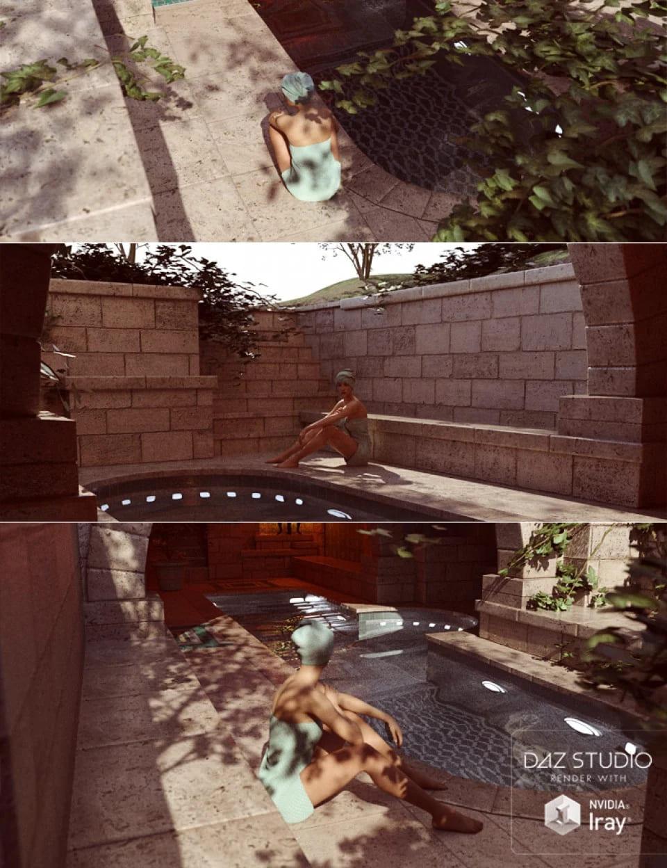 Tranquil Private Pool_DAZ3D下载站