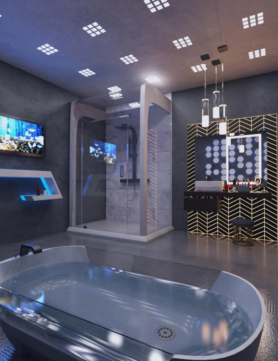 Futuristic Bathroom_DAZ3D下载站