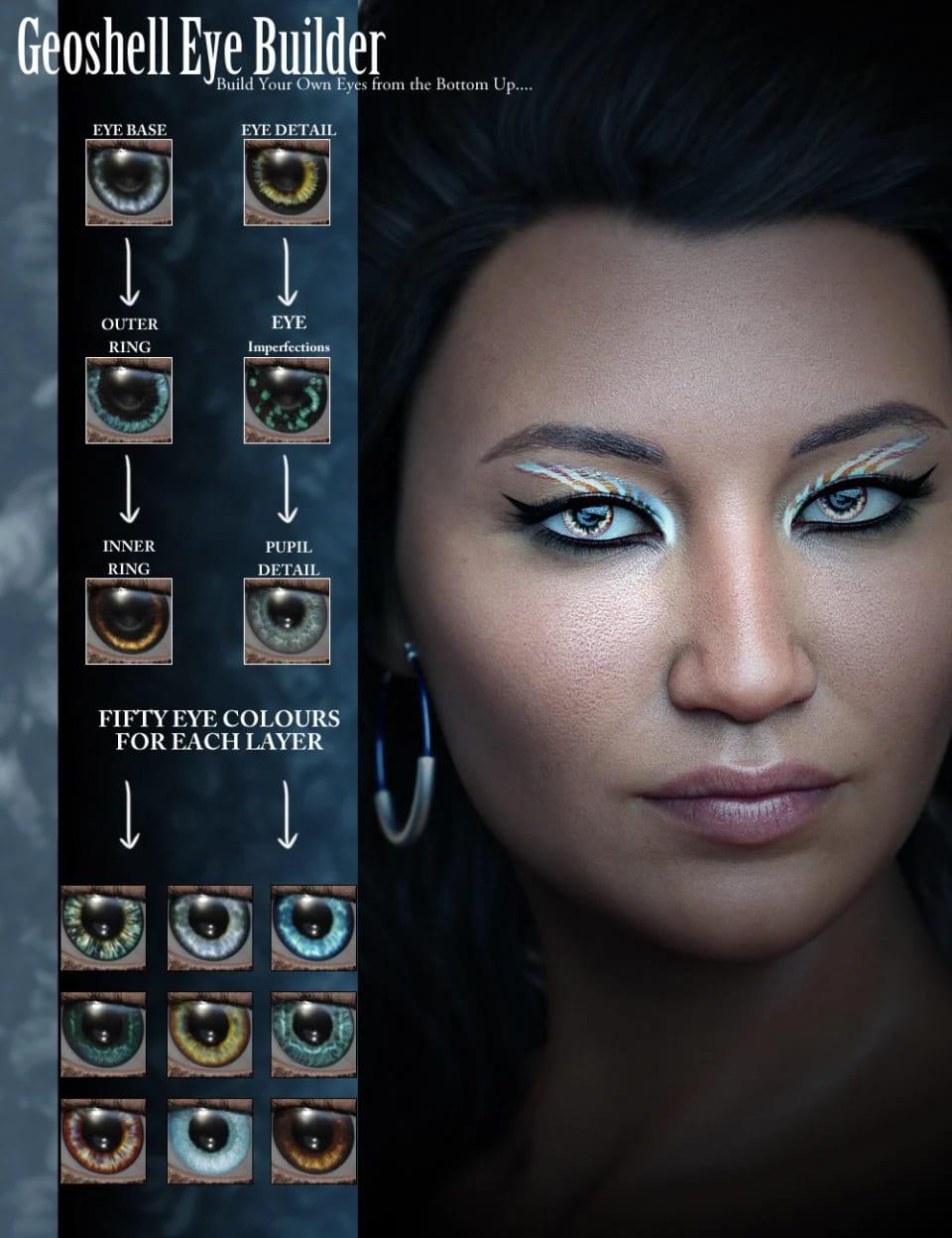 Geoshell Eye Builder for Genesis 8 Female_DAZ3D下载站