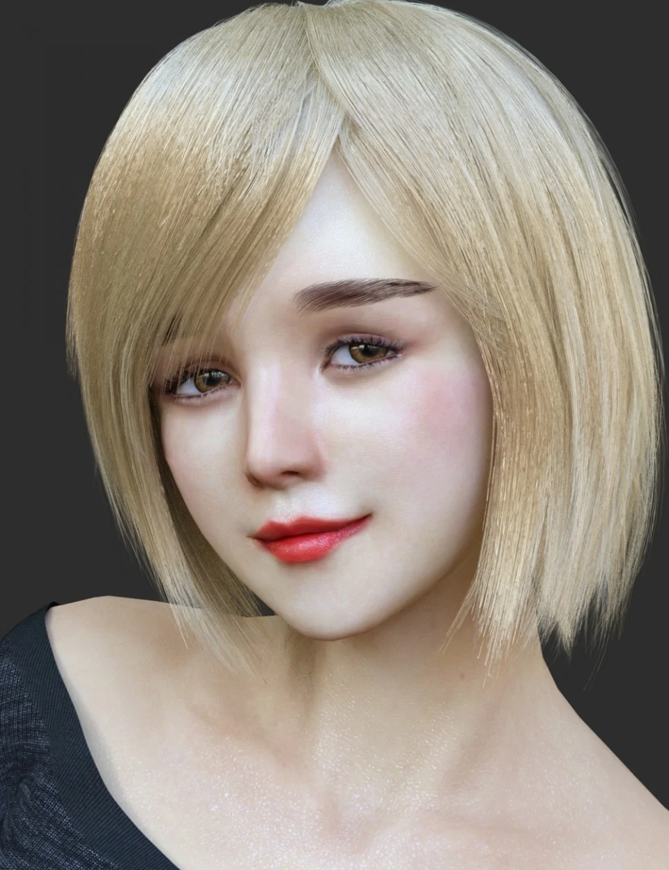 HS Keicy Short Hair with dForce for Genesis 8 Female(s)_DAZ3D下载站