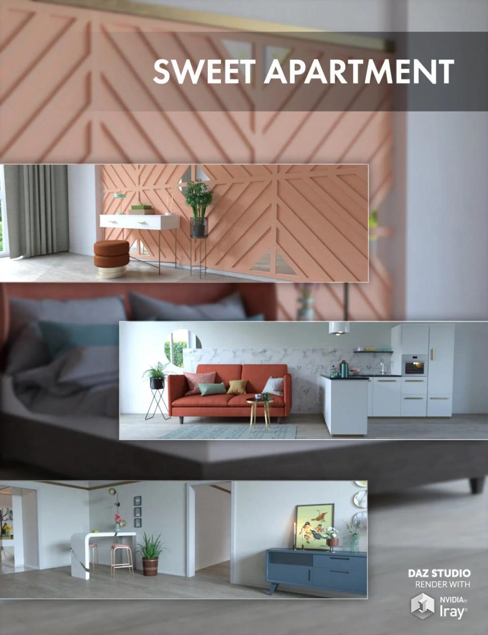 Sweet Apartment_DAZ3D下载站