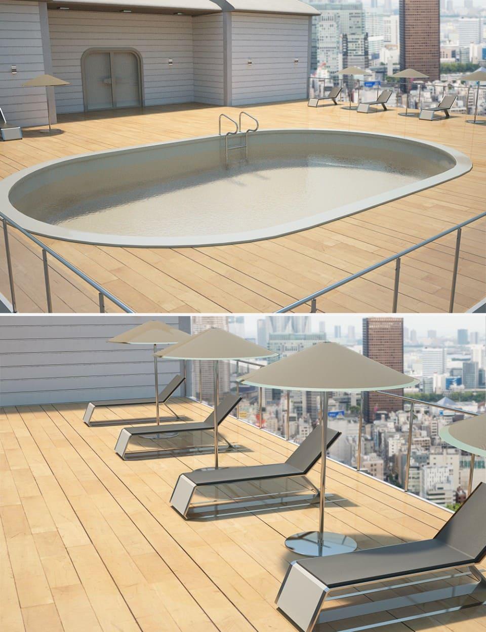 Utopia Balcony with Pool_DAZ3D下载站