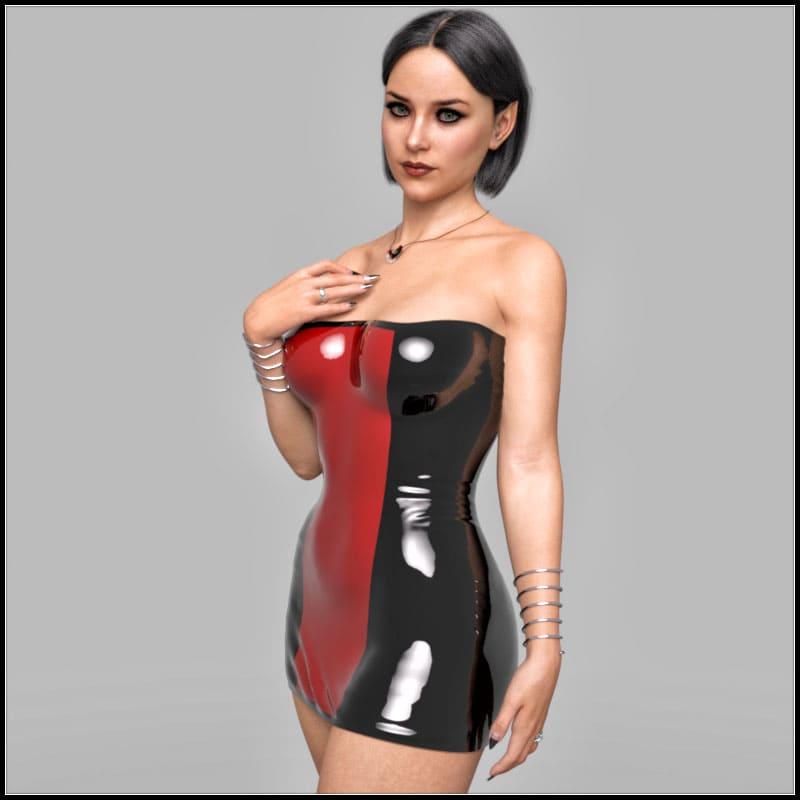 Vulcana Dress G8F (dForce)_DAZ3D下载站