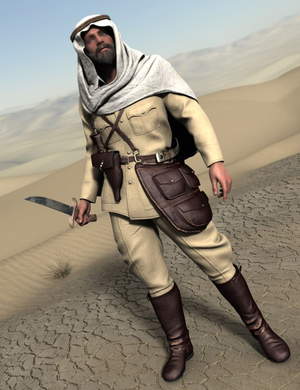 Desert Pathfinders for Genesis 2 Male(s)_DAZ3D下载站