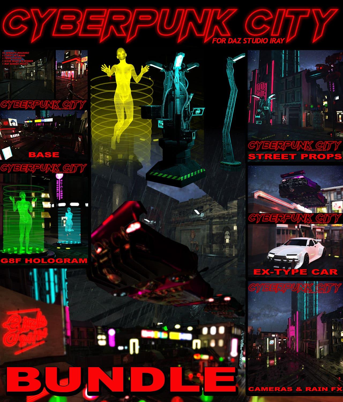 Cyberpunk City BUNDLE for DS Iray_DAZ3D下载站