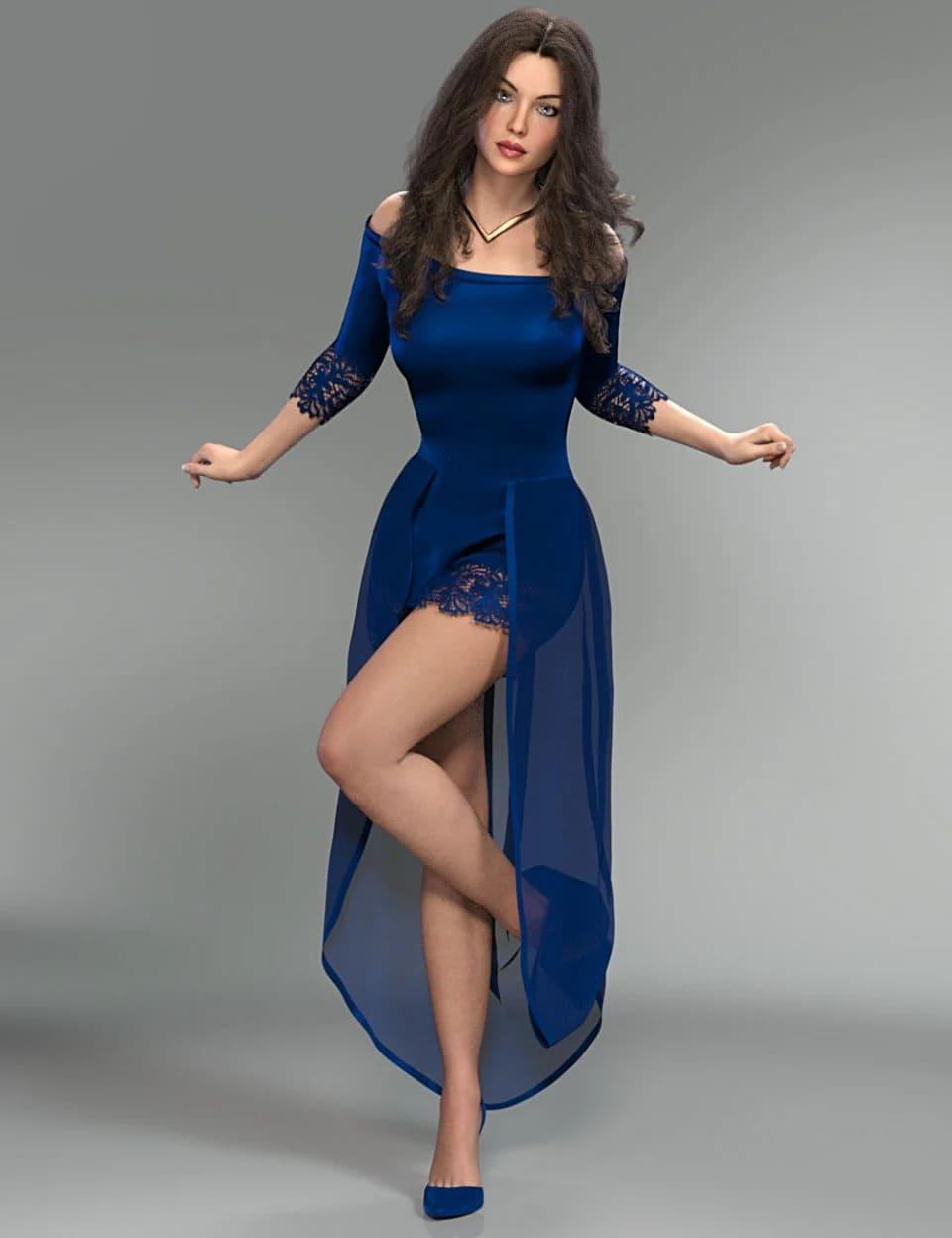 dForce Aimee Lynn Outfit for Genesis 8 Female(s)_DAZ3D下载站