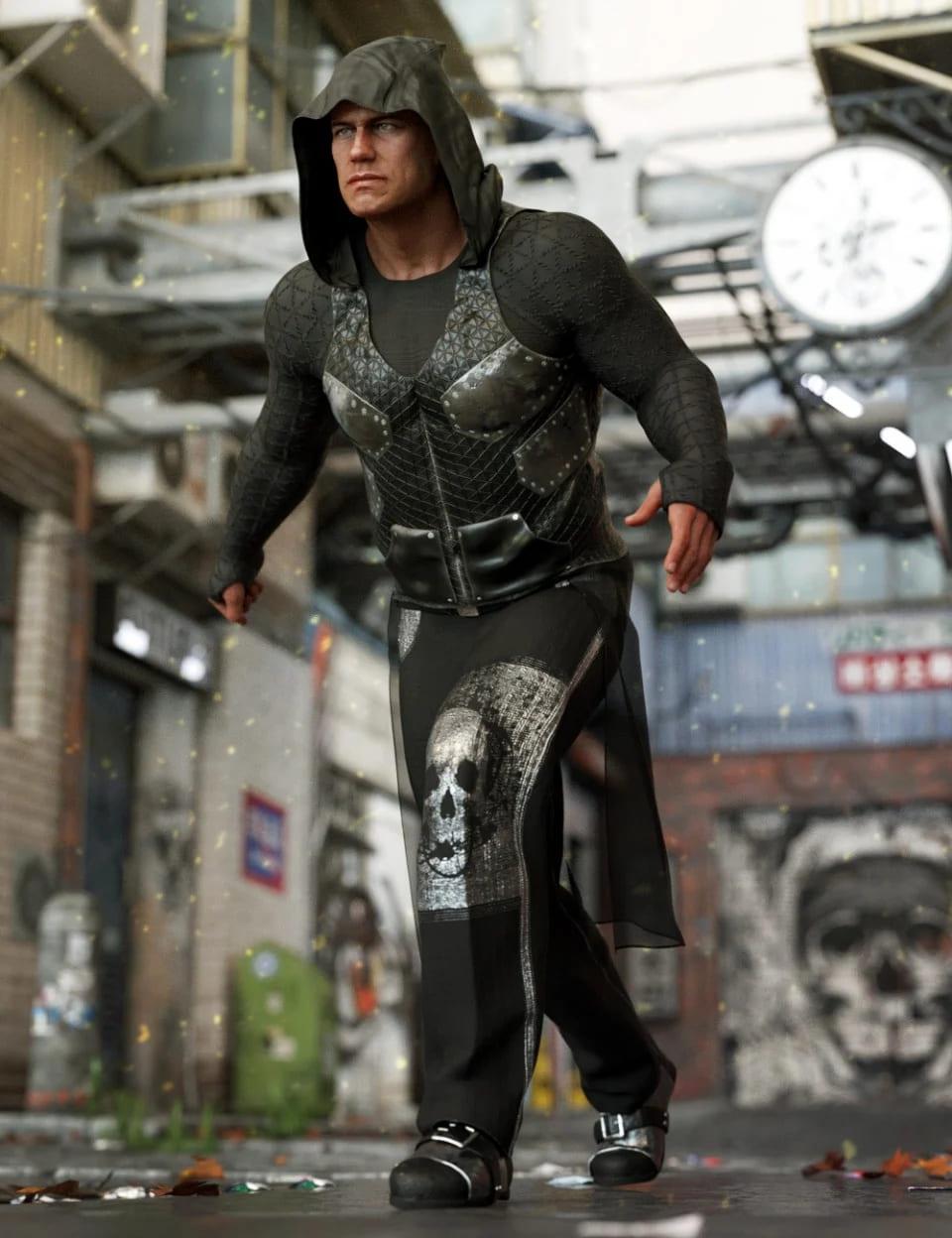 dForce Newrava Outfit for Genesis 8 Male(s)_DAZ3D下载站