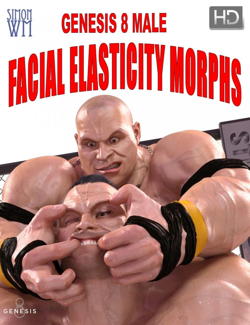 Genesis 8 Male Facial Elasticity Morphs_DAZ3D下载站