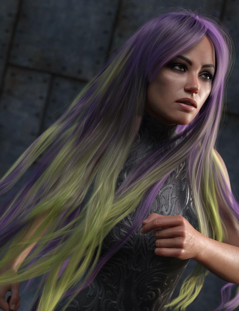 Texture Expansion for Turbulent Long Hair_DAZ3D下载站