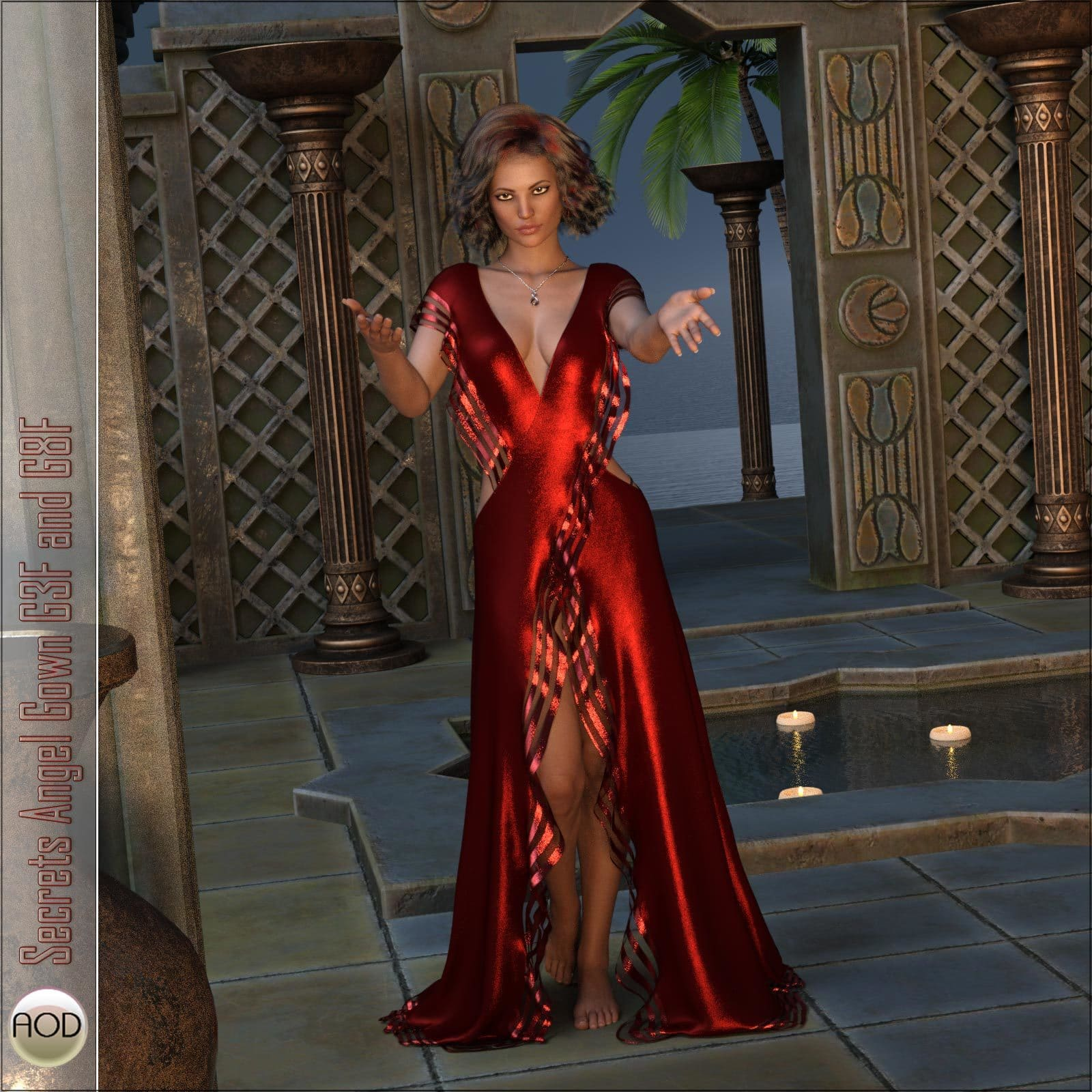 Secrets Angel Gown G3F and G8F_DAZ3D下载站