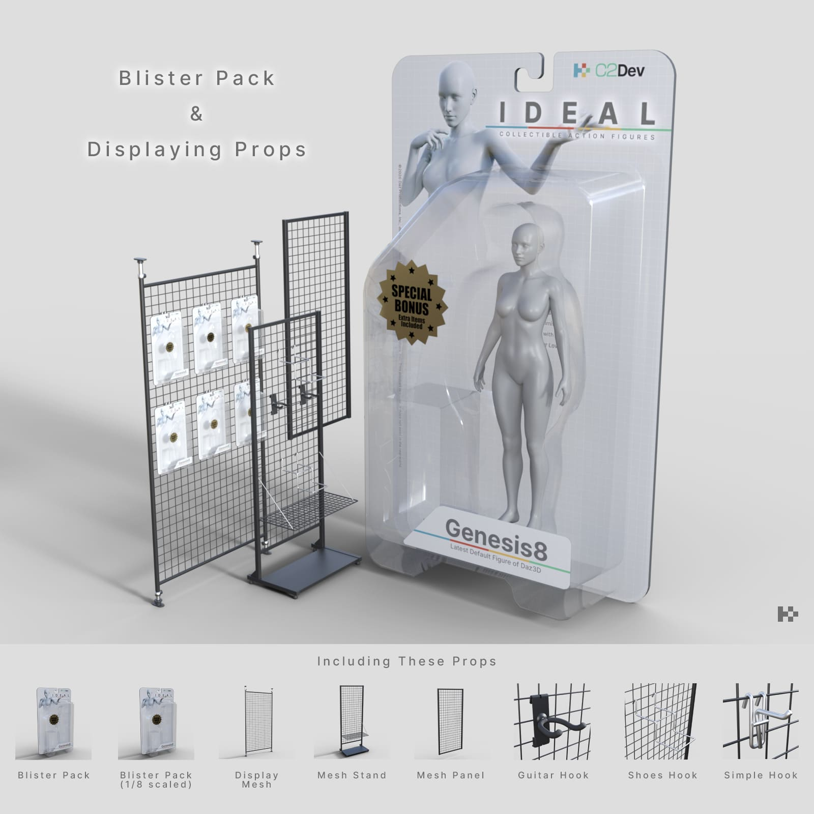 Blister Pack and Displaying Props_DAZ3D下载站
