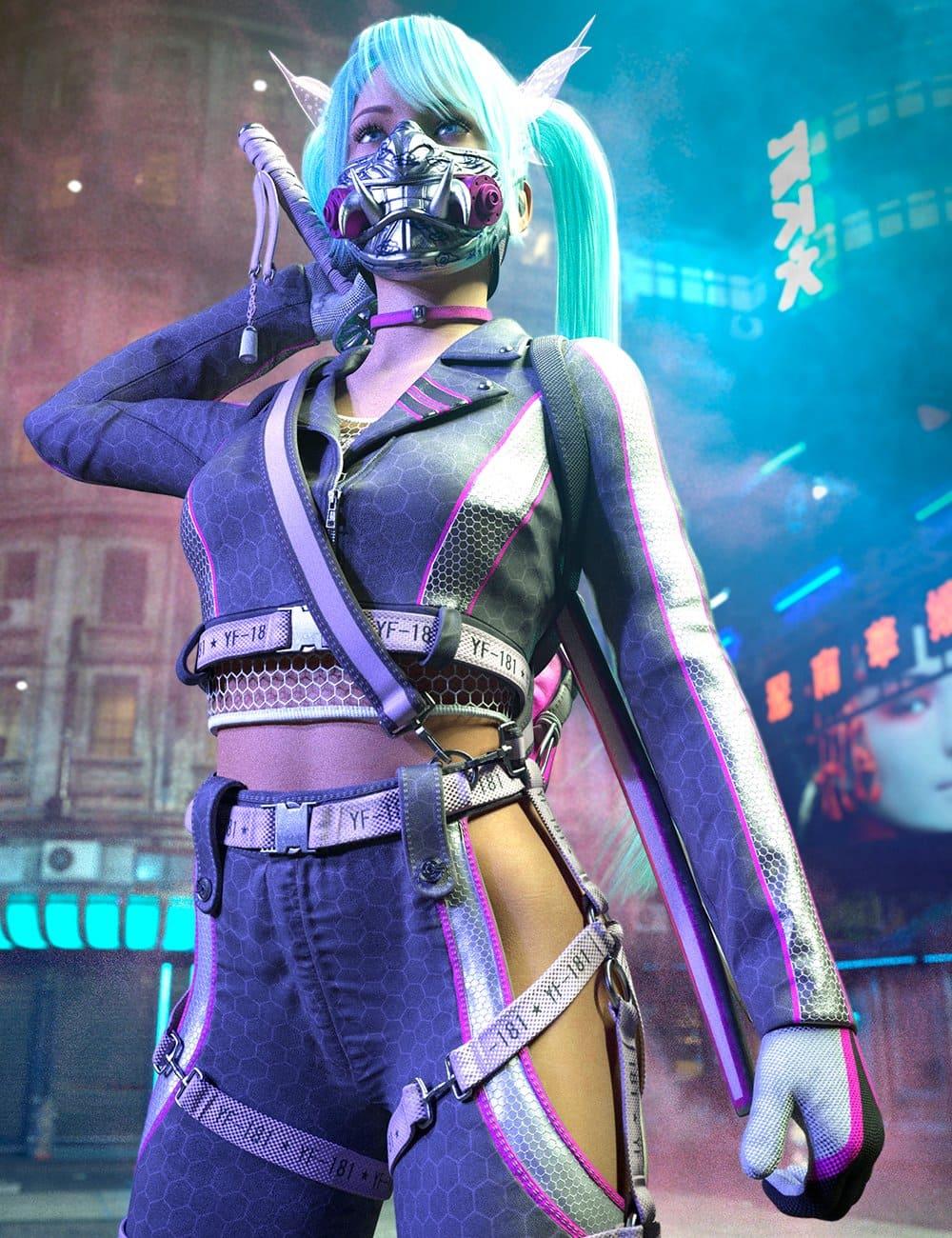 Katana HD Outfit Textures for Genesis 8 Females_DAZ3D下载站