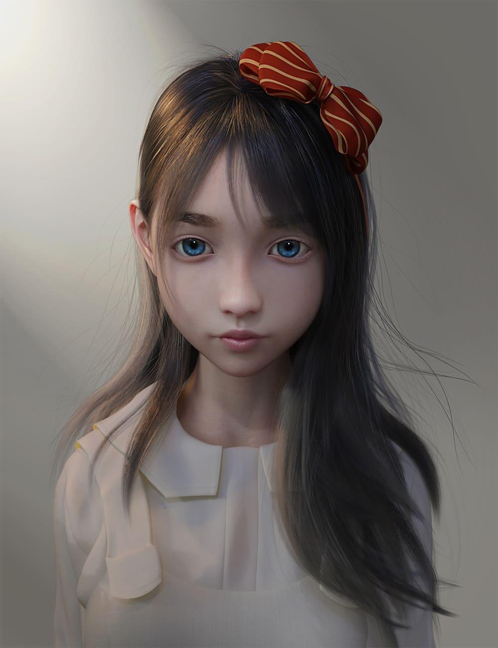 Natsuki Hair for Genesis 8 Females_DAZ3D下载站