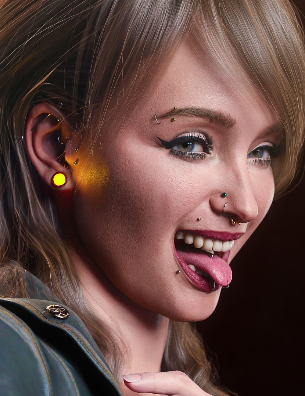 Vario Piercings for Genesis 8.1 Female_DAZ3D下载站