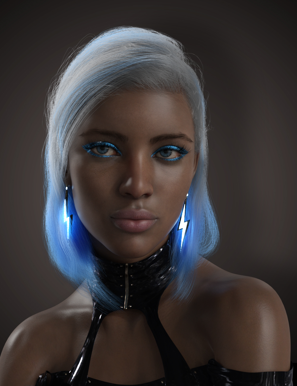 dforce High Voltage Hair for Genesis 3 and 8 Females_DAZ3D下载站