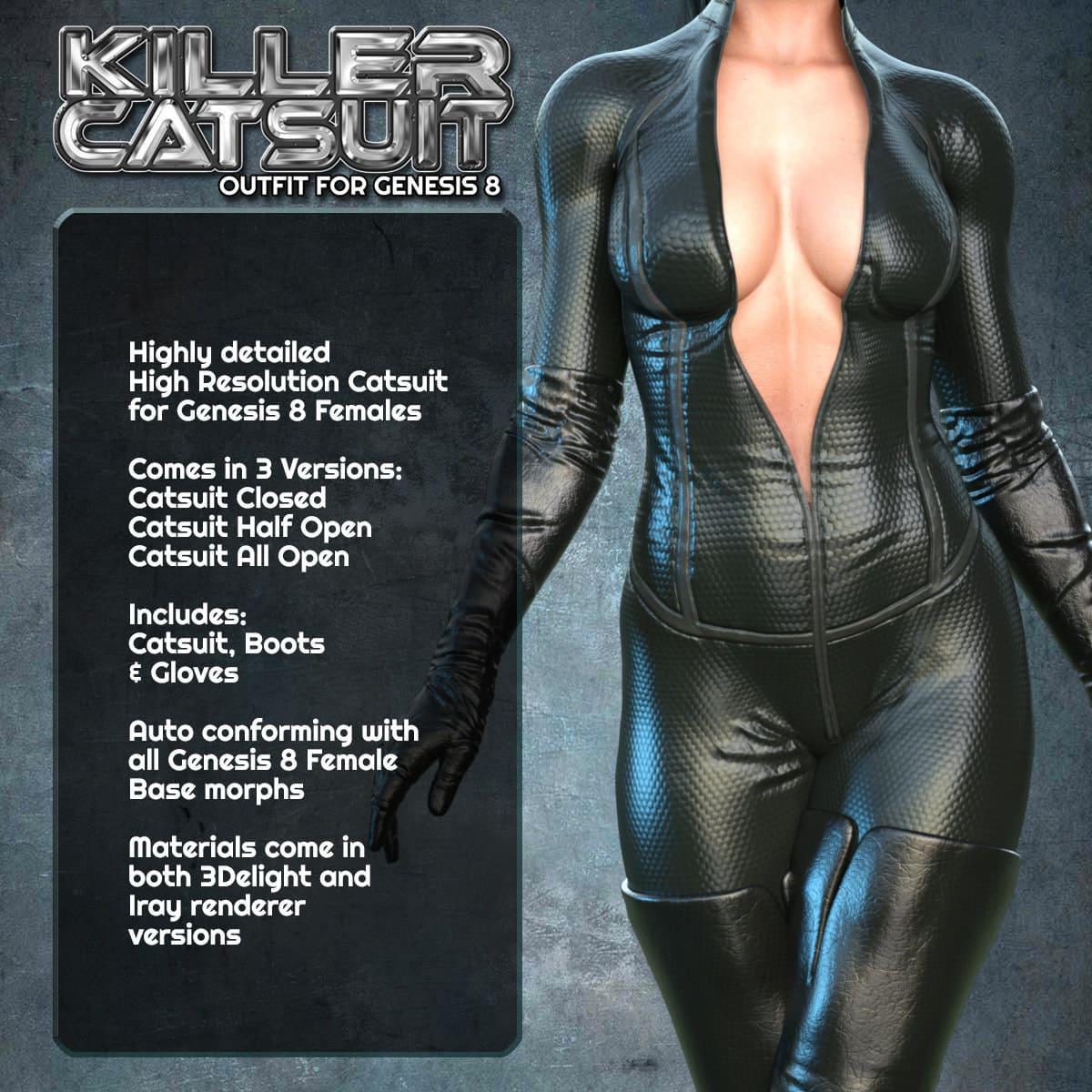 Exnem Killer Catsuit for G8 Female_DAZ3D下载站