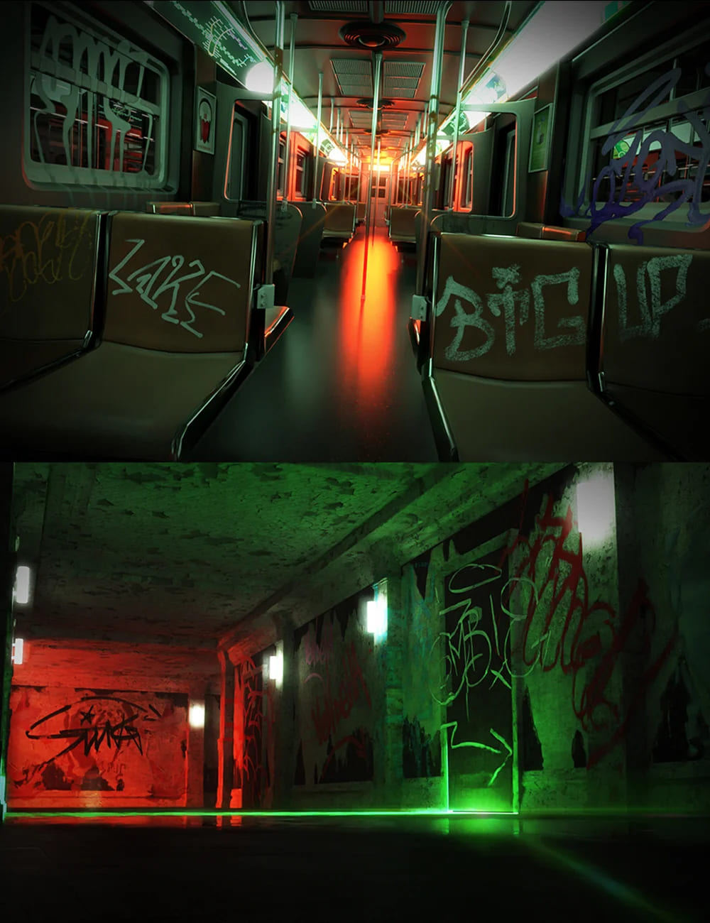 RL Graffiti Tags_DAZ3D下载站