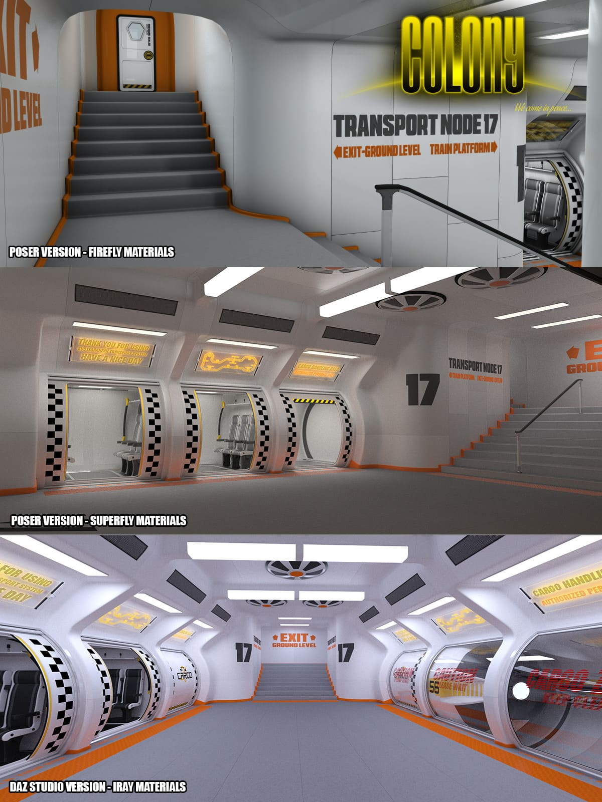 Colony Subway for Poser and DS_DAZ3D下载站