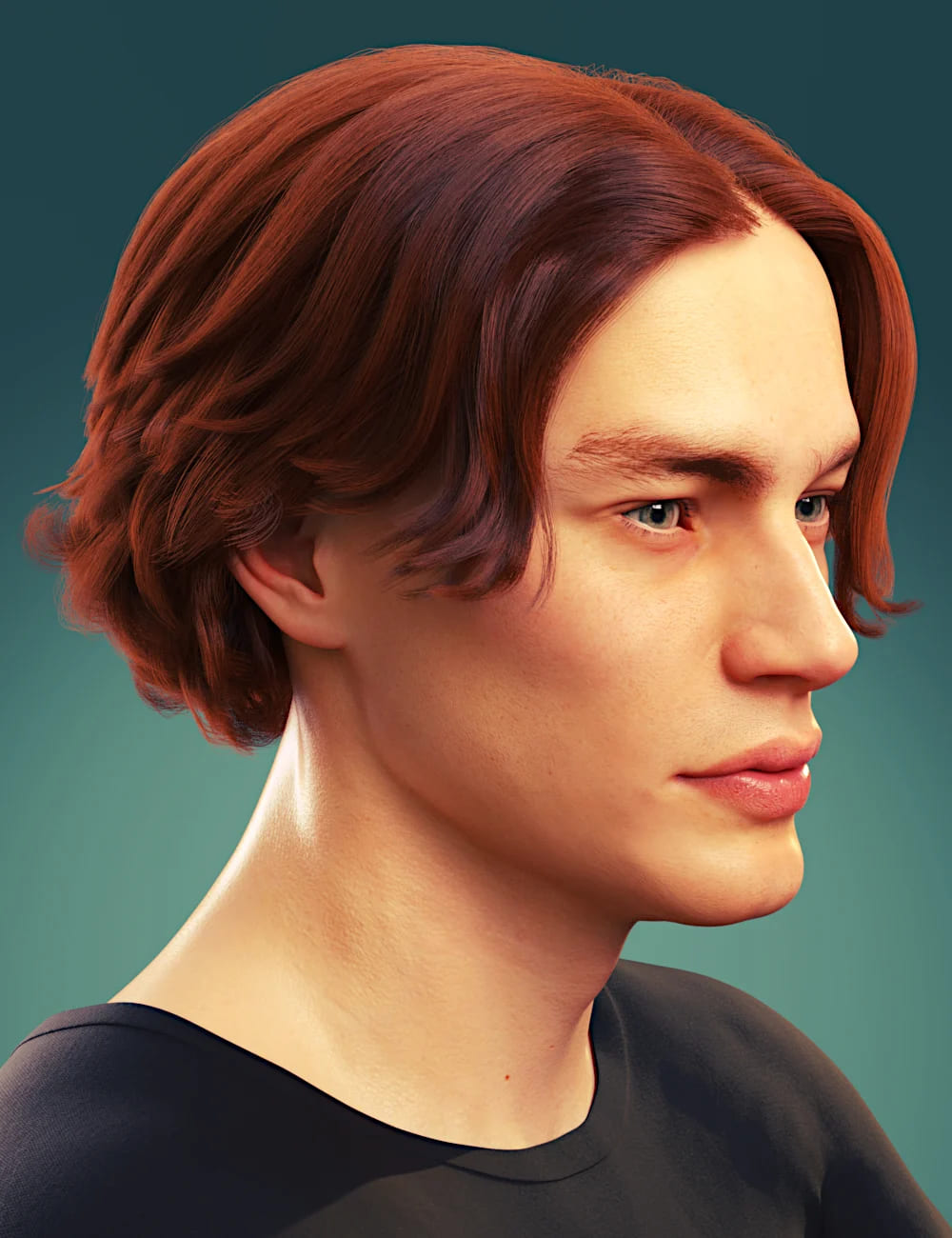dforce Timothee Hair for Genesis 8 and 8.1 Males and Torment 8.1_DAZ3D下载站