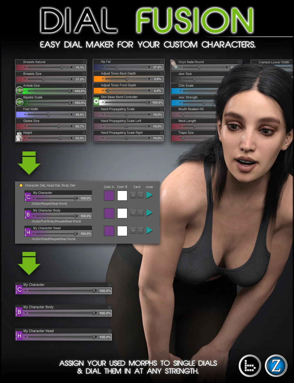 Dial Fusion for Genesis 2 to 8.1_DAZ3D下载站