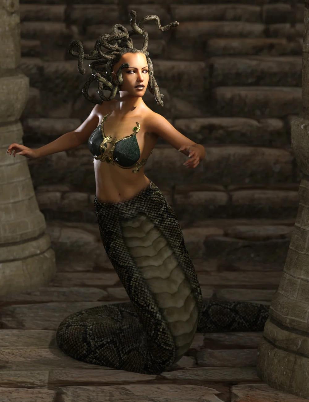 Medusa's Revenge Hierarchical Poses for Medusa_DAZ3D下载站