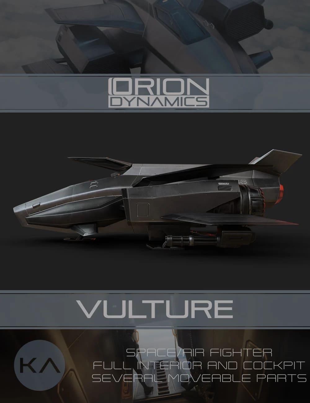 Orion Dynamics: Vulture_DAZ3D下载站