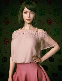 Shirley Lee Character with Hair for Genesis 8 and 8.1 Female_DAZ3D下载站