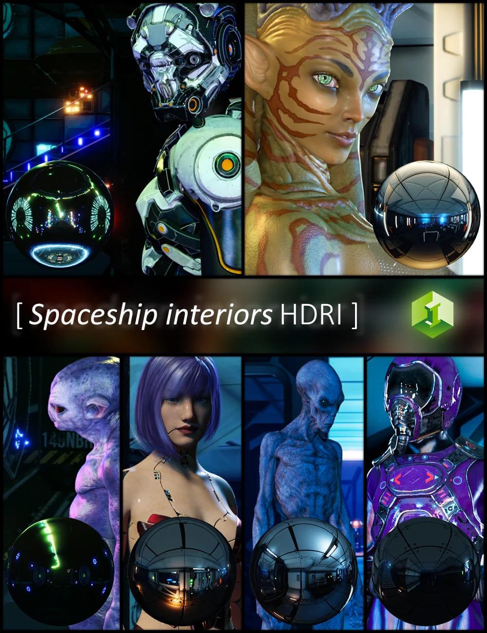 Spaceship Interiors HDRI_DAZ3D下载站