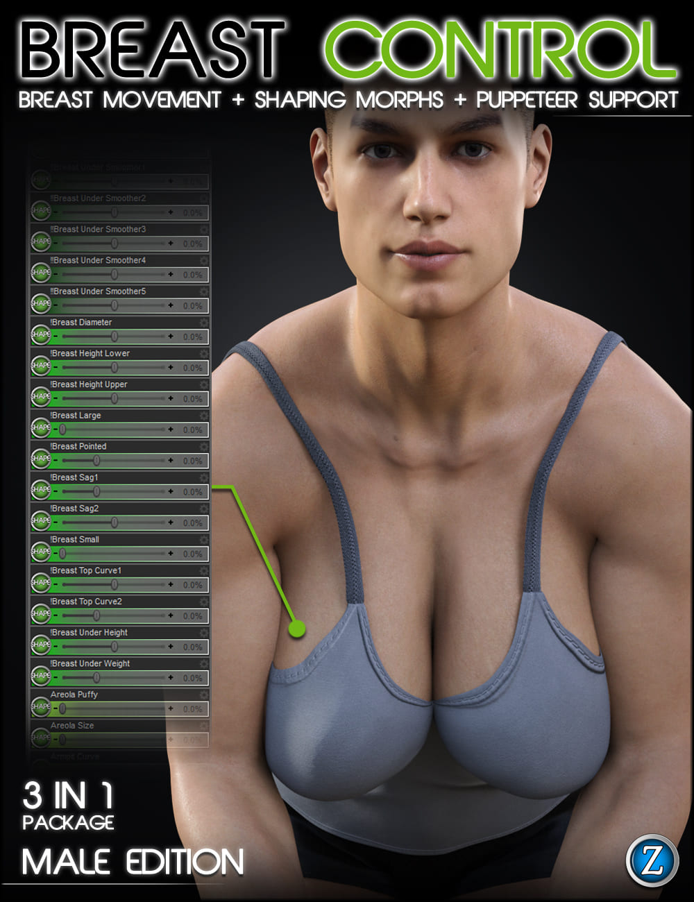 Breast Control for Genesis 3 and 8 Males_DAZ3D下载站