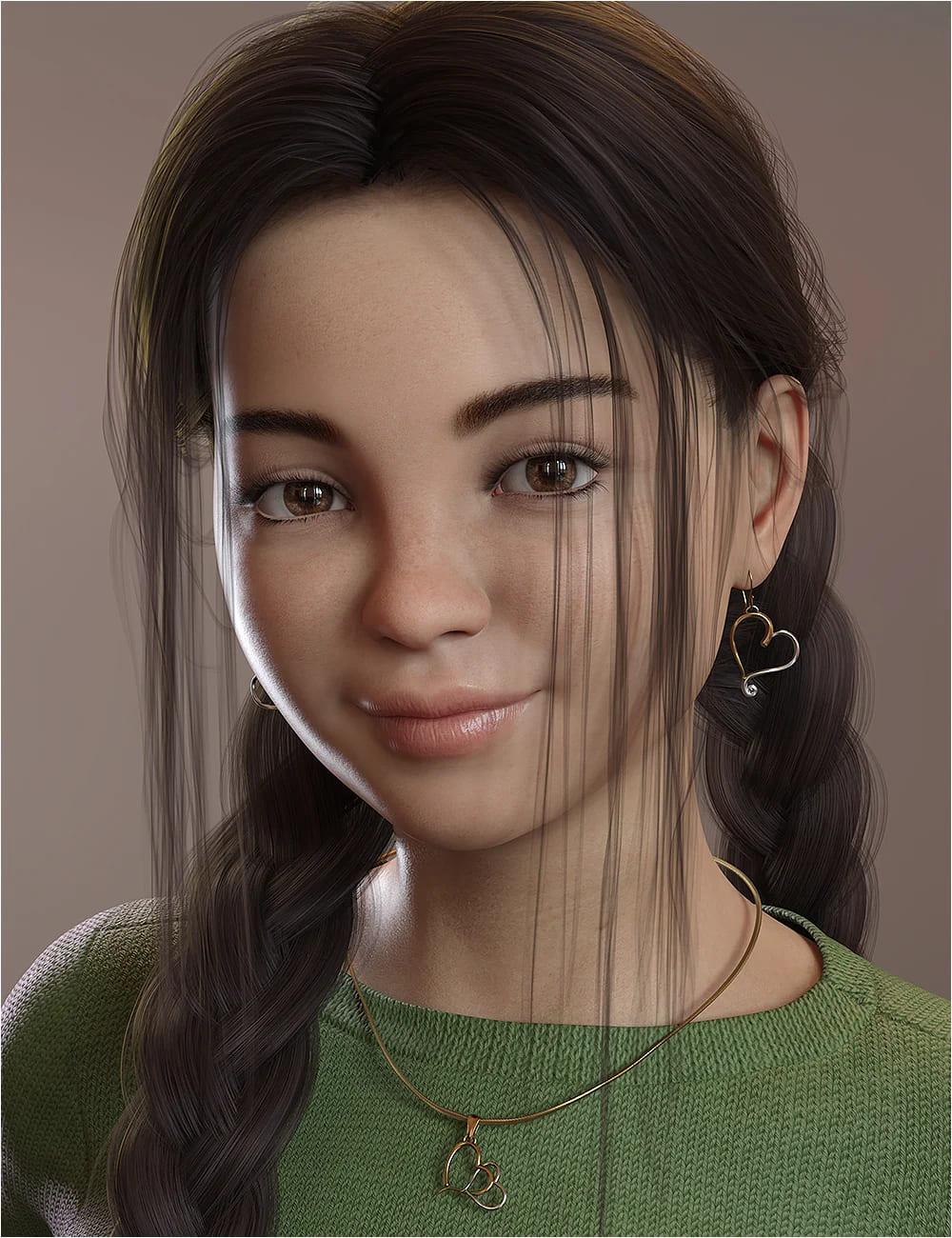 Chrystal Ann for Genesis 8 and Genesis 8.1 Female_DAZ3D下载站