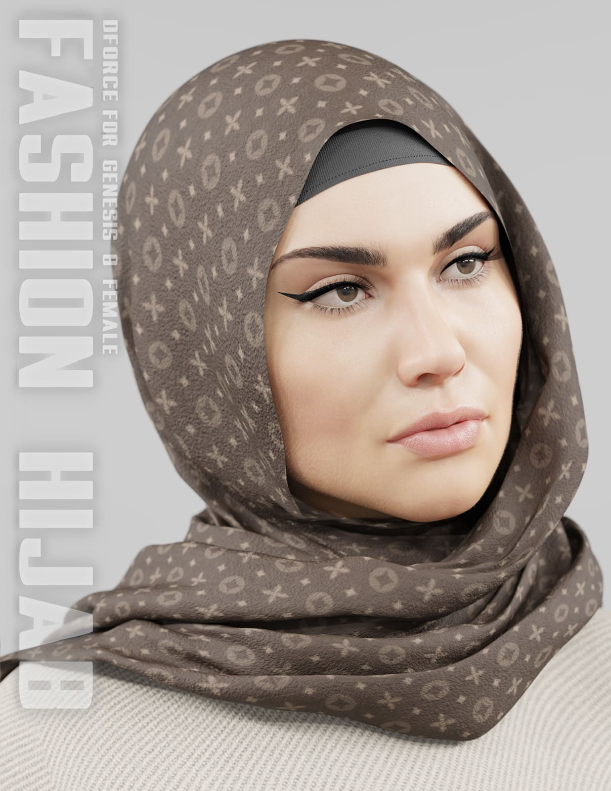 dForce Fashion Hijab – G8F_DAZ3D下载站