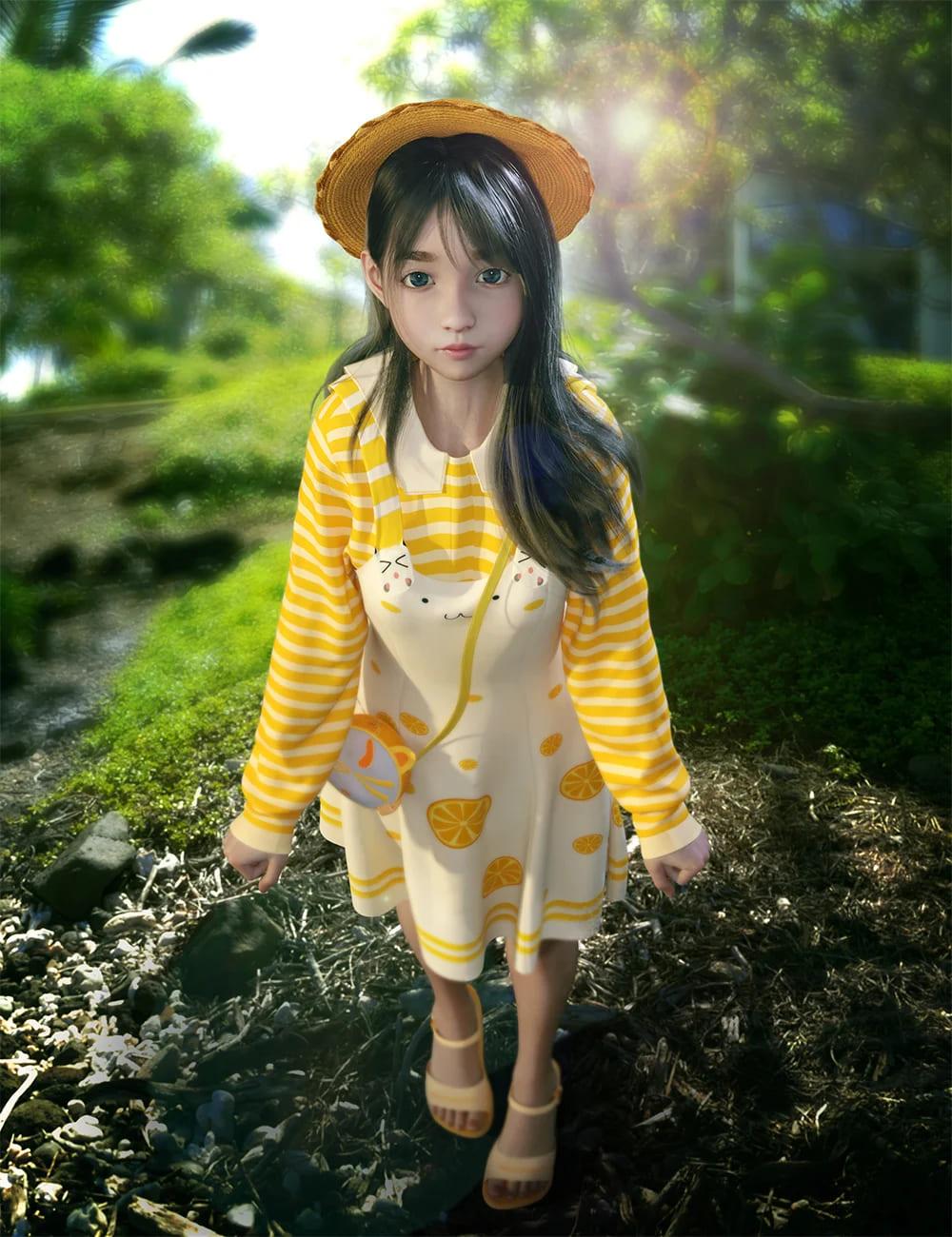 dForce SY Cute Suspender Skirt for Genesis 8 Females_DAZ3D下载站