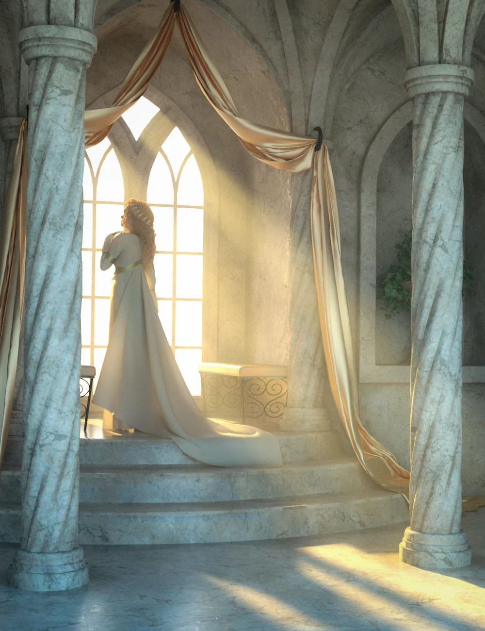 Fantasy Alcove Window_DAZ3D下载站