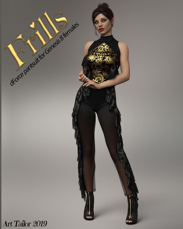 Frills dForce suit for Genesis 8 Females_DAZ3D下载站