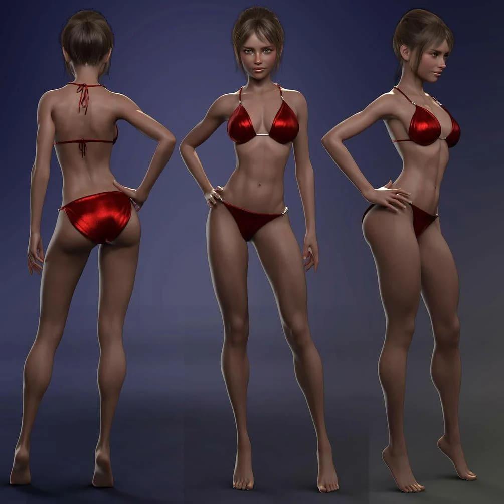 Jay 21 Character Morph for Genesis 8 and 8.1 Female Daz Studio_DAZ3D下载站