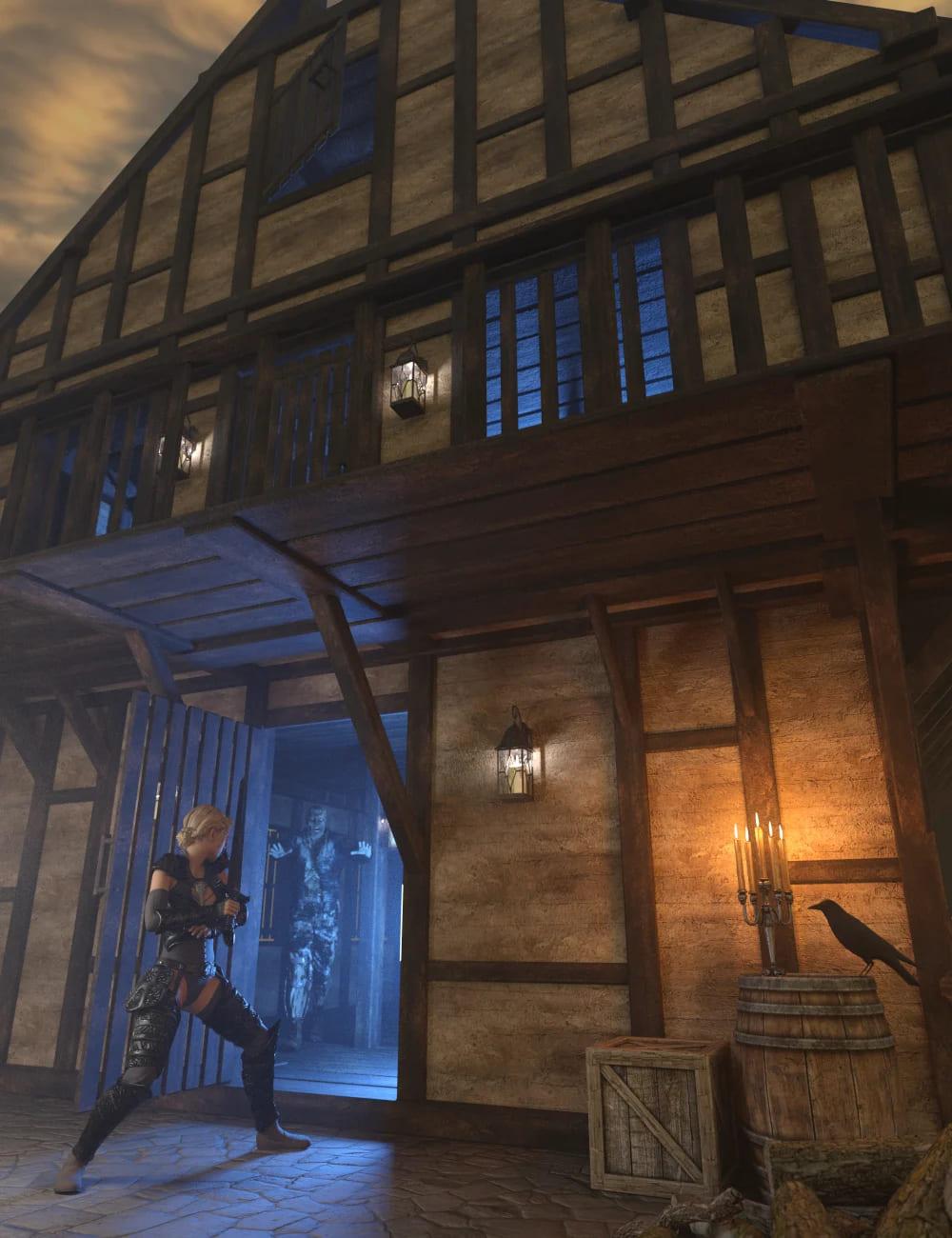 Timber Framed Houses 1_DAZ3D下载站