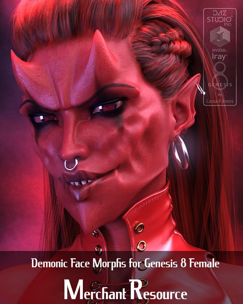 Demonic Face Morphs For Genesis 8 Female – Merchant Resource_DAZ3D下载站