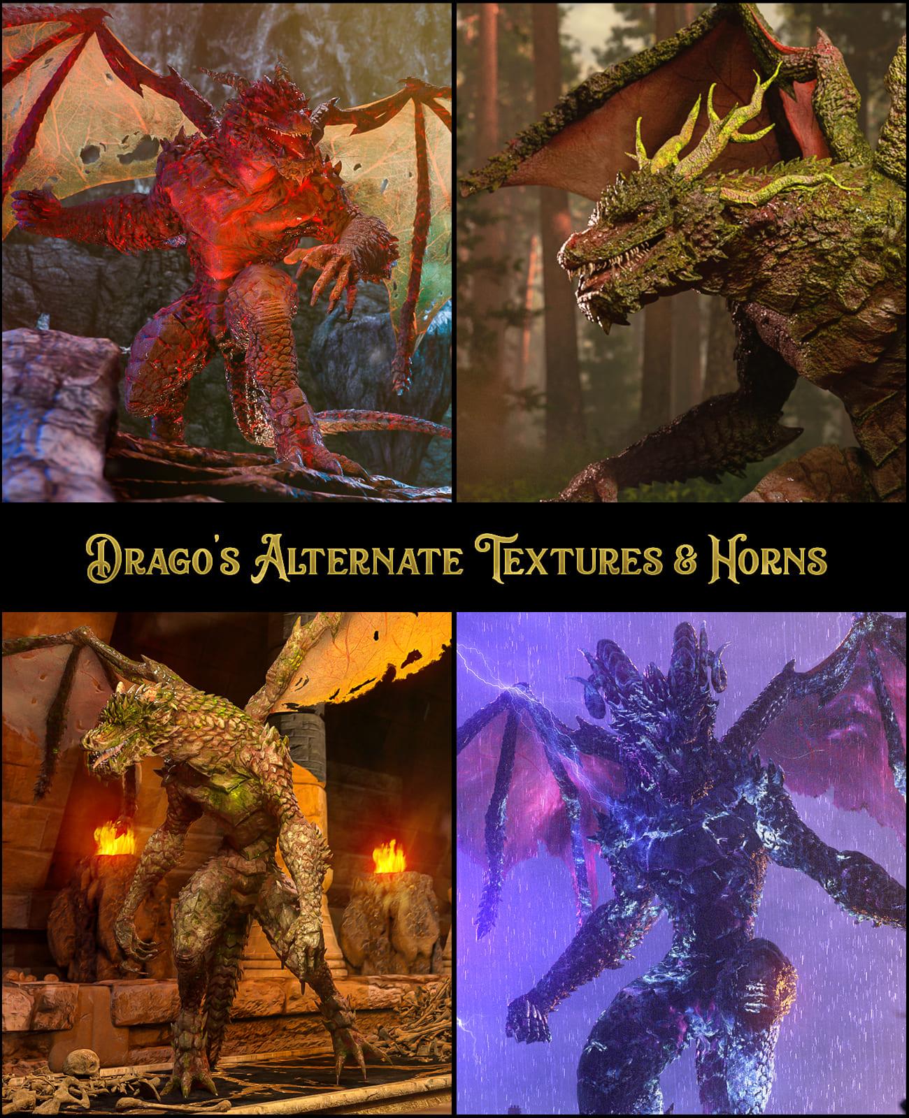 Drago's Alternate Textures and Horns_DAZ3D下载站