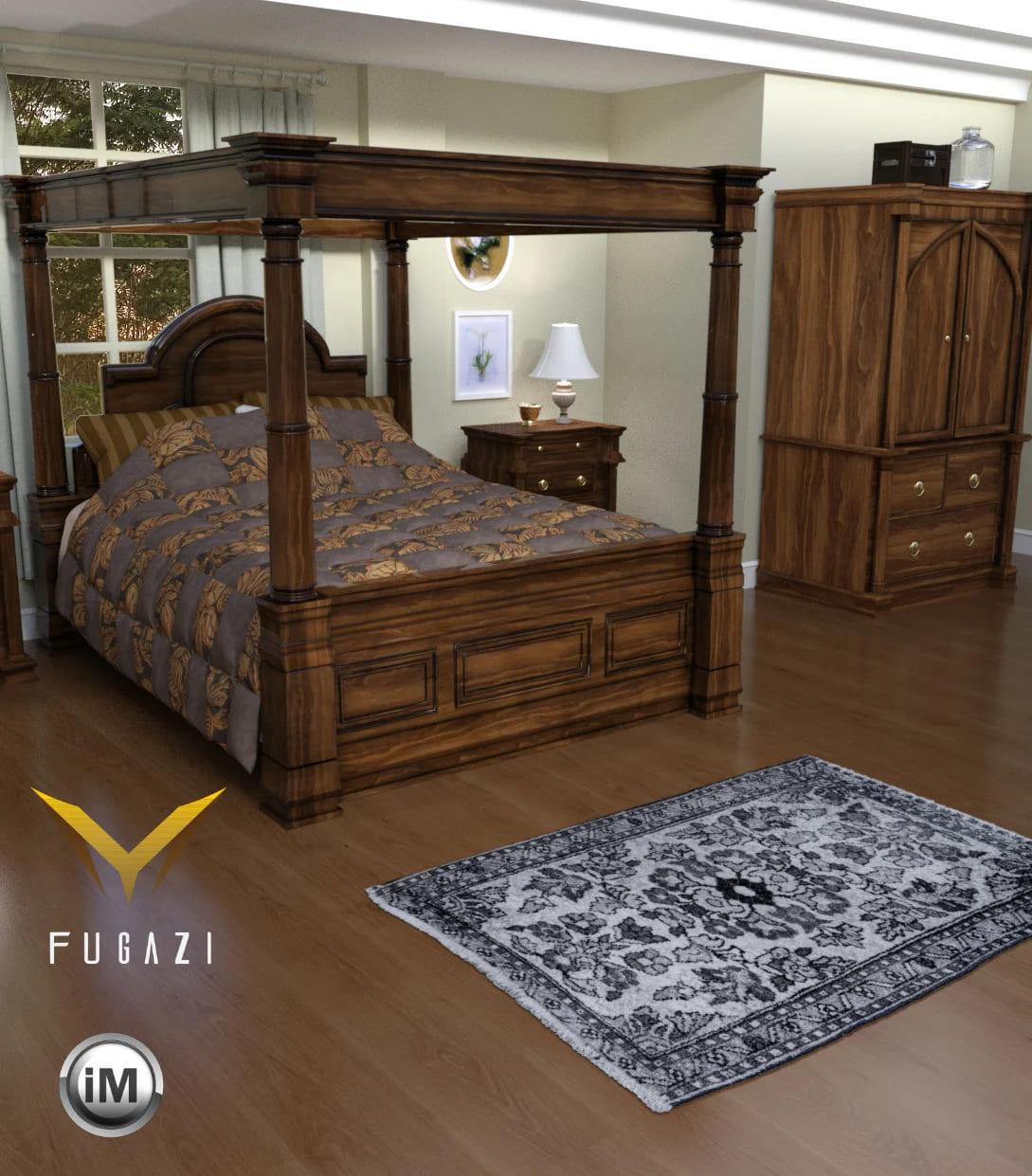 FG Romantic Bedroom Bundle_DAZ3D下载站