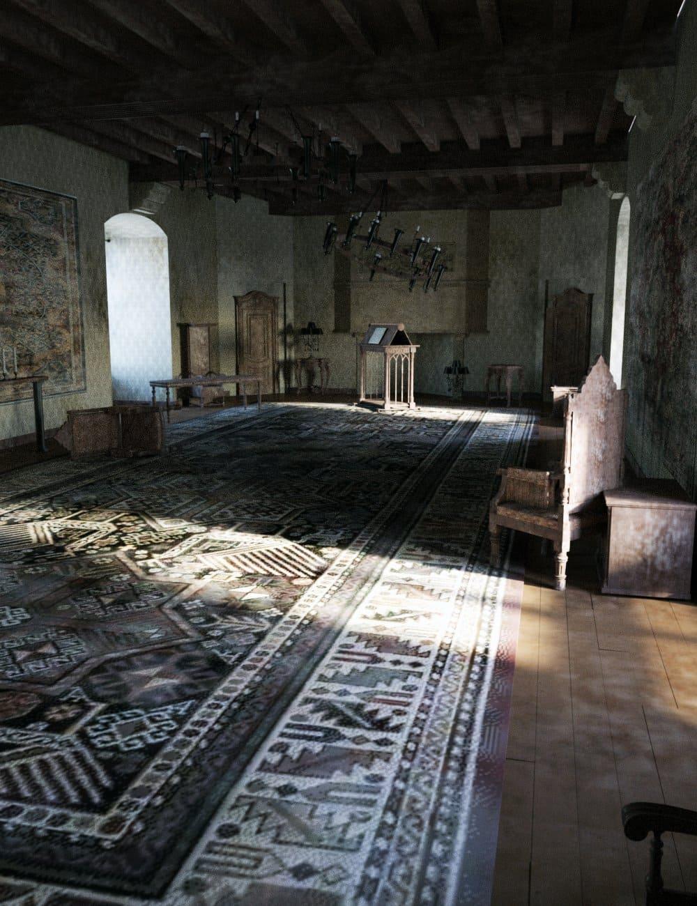 Knight Guest Hall Abandoned_DAZ3D下载站