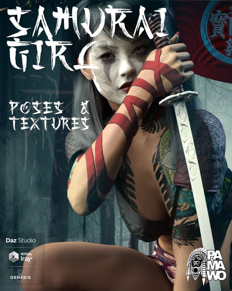 Samurai Girl Poses & Textures for GF8_DAZ3D下载站