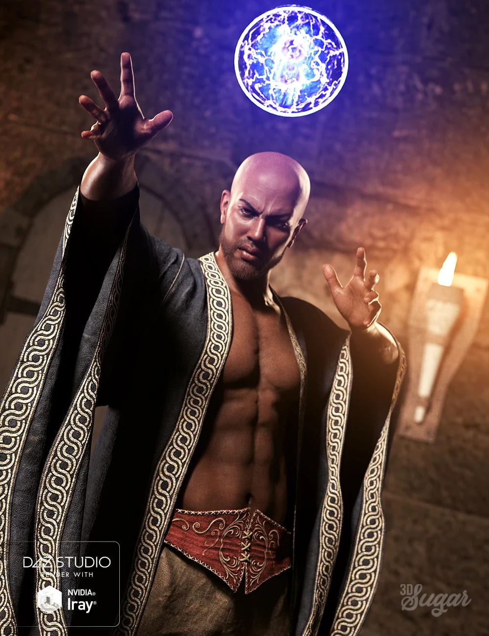 Wicked Sorcerer Poses for Genesis 8 Male_DAZ3D下载站