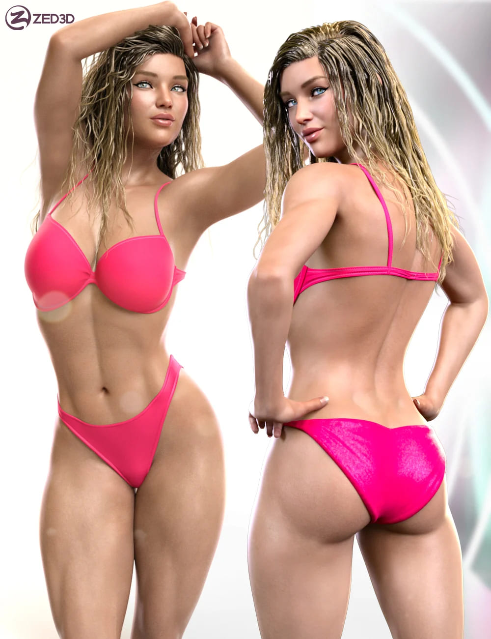 Z Beautifully Strong Shape and Pose Mega Set_DAZ3D下载站
