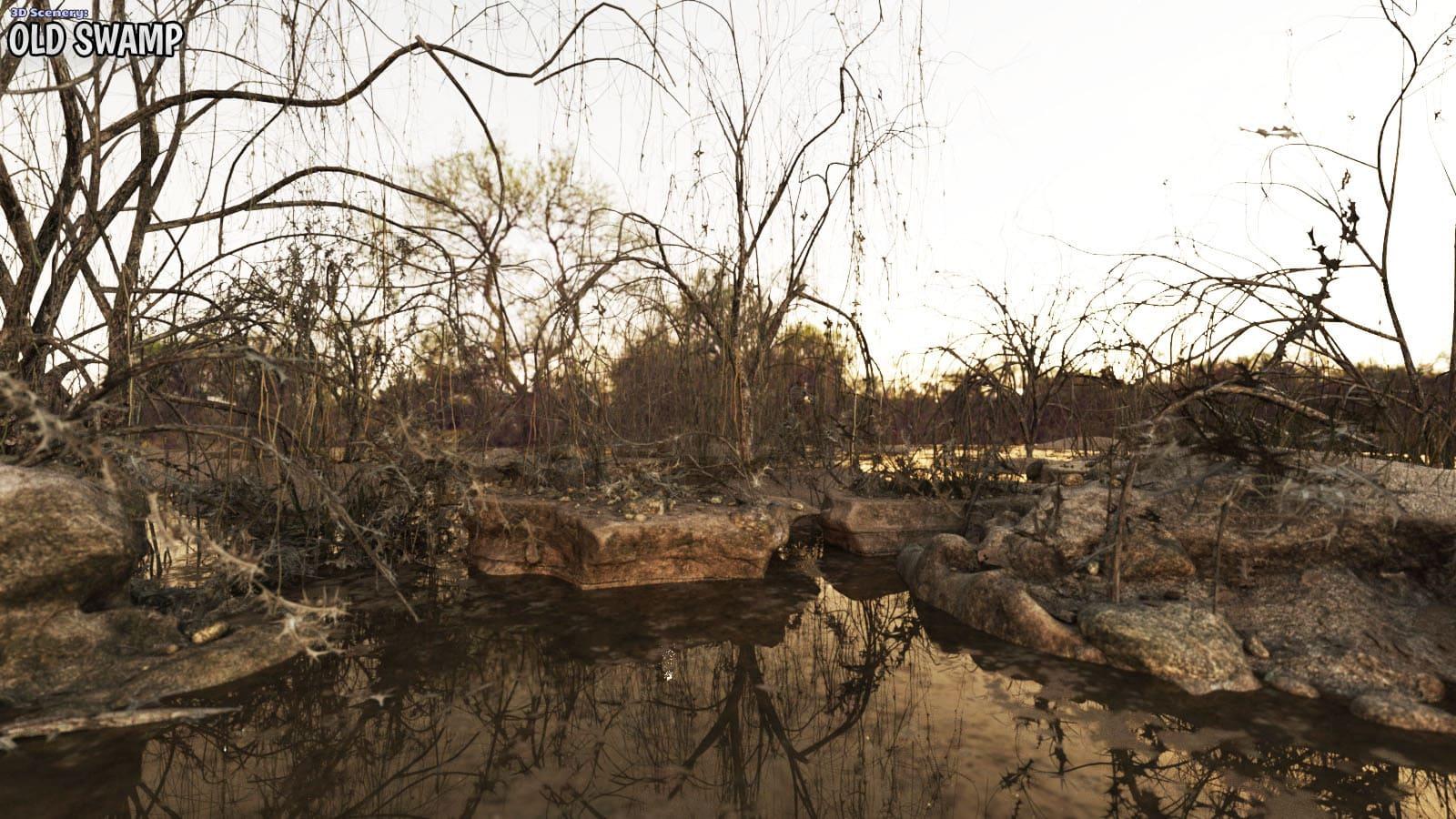 3D Scenery: Old Swamp_DAZ3D下载站