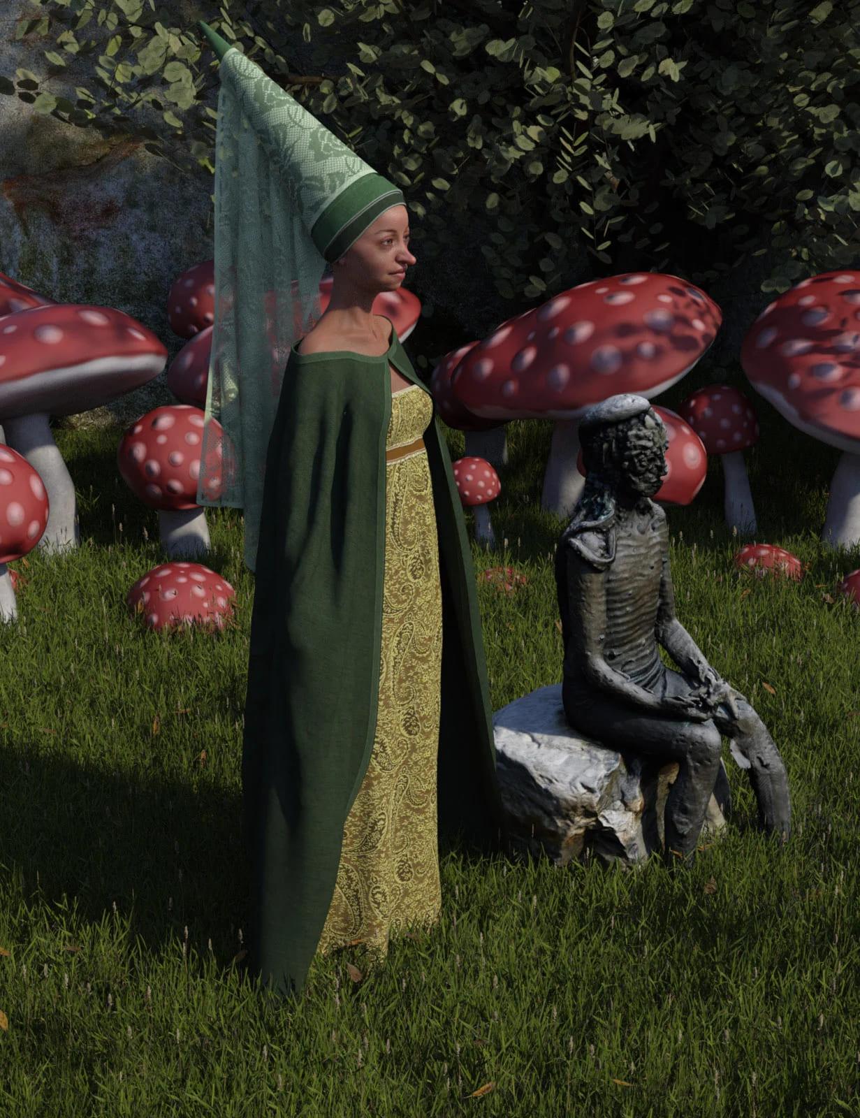 dForce Fairy Tale Dress for Genesis 8 Female(s)_DAZ3D下载站