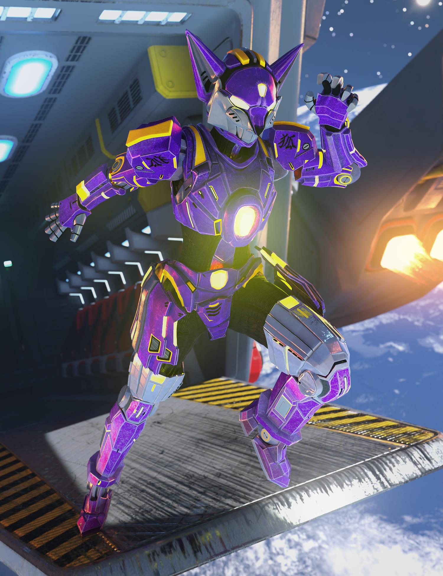 Kitsune Mech Armor for Genesis 8 and 8.1 Females_DAZ3D下载站