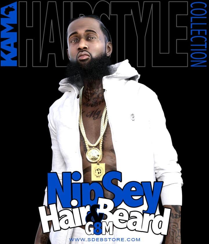 Nipsey Hair And Beard G8M_DAZ3D下载站