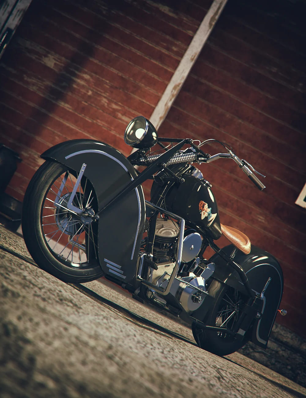Old Street Bike_DAZ3D下载站