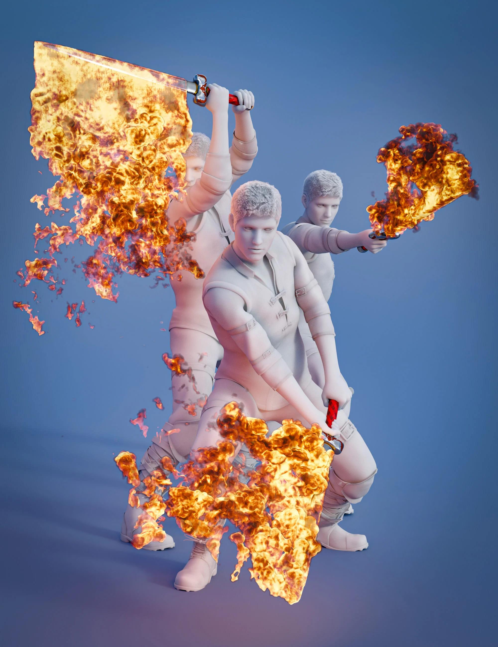 Pyromantix – Fire Swords_DAZ3D下载站